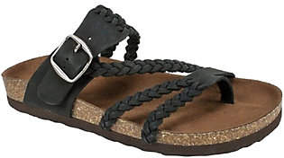 White Mountain Suede Leather Slide Sandals - Ha