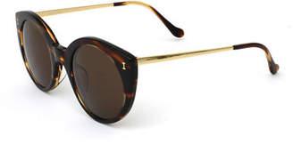 Illesteva Palm Beach Mirrored Cat-Eye Sunglasses $240 thestylecure.com