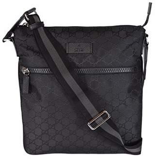 Gucci Men's Nylon GG Guccissima Web Trim Crossbody Messenger Bag (/Medium)