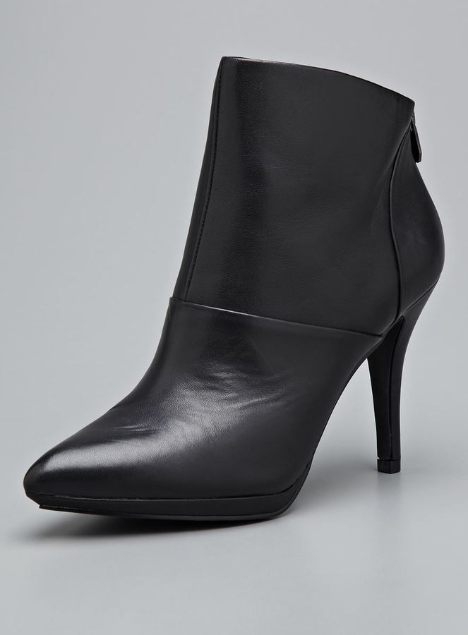 Tahari Isadora High Ankle Leather Bootie