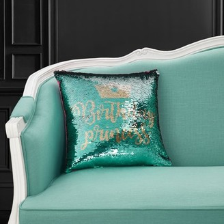 """SuperStar Mainstays Reversible Sequin Birthday Decorative Throw Pillow 17"""" x 17"""", Birthday Princess, Green, Multiple Patterns and Color"""