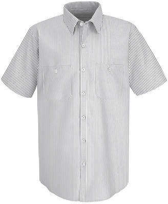 JCPenney Red Kap SP20 Micro-Check Men's Uniform Shirt