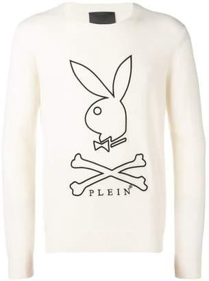 Philipp Plein X Playboy knitted cashmere sweater