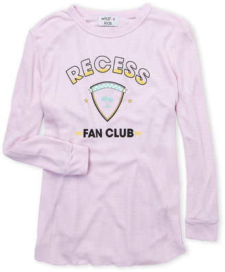 Wildfox Couture Girls 7-16) Recess Waffle Knit Tee