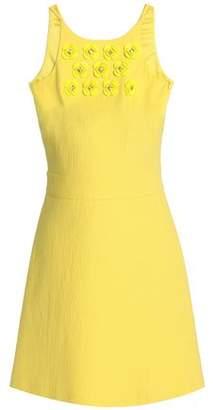 Moschino Embellished Cotton-Blend Jacquard Mini Dress