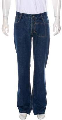 John Galliano Five-Pocket Straight-Leg Jeans