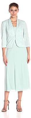 Alex Evenings Women's T-Length Mock Jacket Dress With Three-Quarter Sleeve