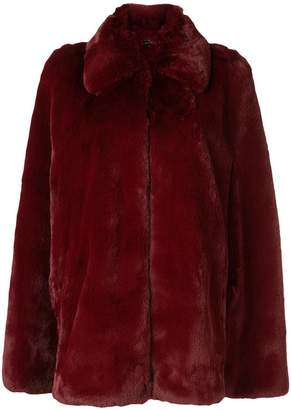 Burberry faux-fur cape jacket
