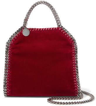 Stella McCartney The Falabella Tiny Velvet Shoulder Bag - Red
