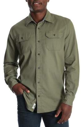 Wrangler Men's and Big & Tall Long Sleeve Stretch Twill Shirt, up to Size 3XLT