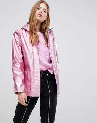 Glamorous Metallic Raincoat