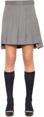 Pleated Wool Twill Mini Skirt $1,150 thestylecure.com