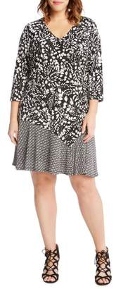 Karen Kane Abstract Print Dress
