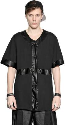 Numero 00 Faux Leather & Cotton Jersey T-Shirt