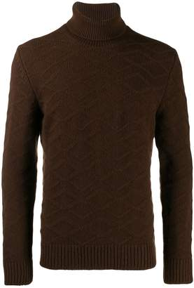 Tagliatore diamond roll neck jumper