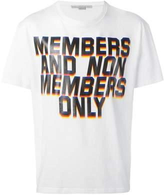 Stella McCartney Members print T-shirt