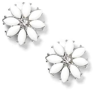 Penningtons Floral Earrings with Rhinestone
