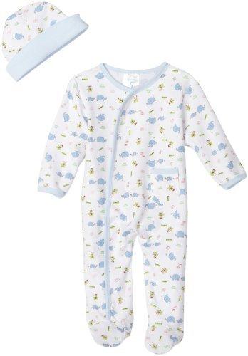 SpaSilk 2 Piece Sleepwear With Hat - Boy Elephant Print