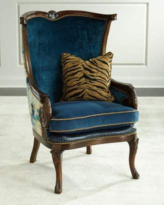 Massoud Gannon Wingback Chair, Indigo