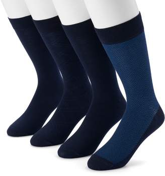 Dockers Men's 4-pack Herringbone & Solid Dress Socks