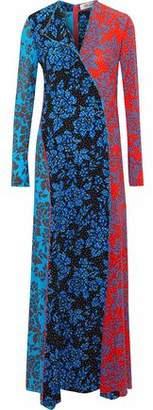 Diane von Furstenberg Paneled Floral-Print Silk Crepe De Chine Maxi Dress