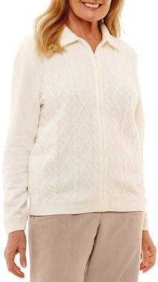 Alfred Dunner Stocking Stuffers Long Sleeve Crew Neck Cardigan
