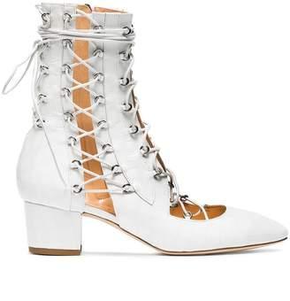 Liudmila White Drury Lane 50 Leather Lace Up Boots