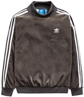 adidas Older Girls Velour Sweat Top