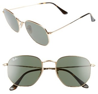 Women's Ray-Ban 54Mm Aviator Sunglasses - Gold/ Green $150 thestylecure.com