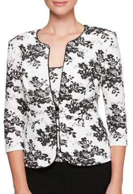 Alex Evenings Two-Piece Floral Print Jacket and Scoopneck Camisole Twinset
