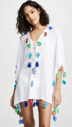 Bindya Lace Up Tunic with Triple Tassels