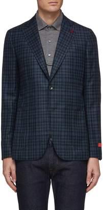 'Cortina' gingham check wool blend blazer