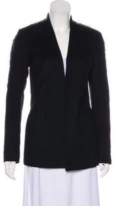 Gryphon Wool Collarless Long Sleeve Blazer