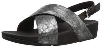 FitFlop Women's LULU Cross Back-Strap Sandals-Shimmer-Print