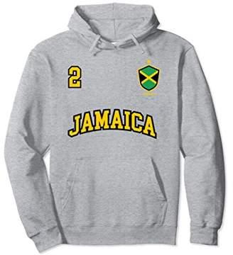 Jamaica Hoodie Number 2 Soccer Team Sports Jamaican Flag