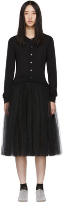 Comme des Garcons Black Tulle Combo Dress
