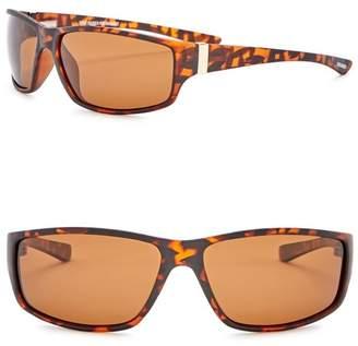 Steve Madden Polarized 62mm Wrap Sunglasses
