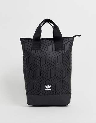 adidas 3D geometric backpack in black