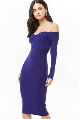 Forever 21 Henley Midi Dress