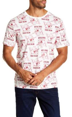 True Religion Buddha Mono Print Short Sleeve Tee
