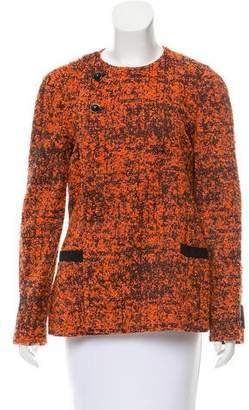Proenza Schouler Tweed Collarless Jacket