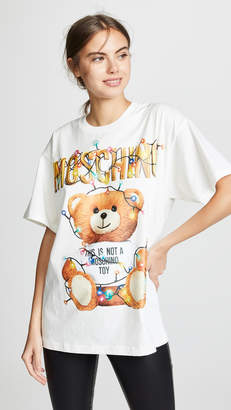 79b6ec9e28f Moschino Christmas Lights Oversized T-Shirt