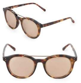 Linda Farrow Luxe 51MM Browline Sunglasses