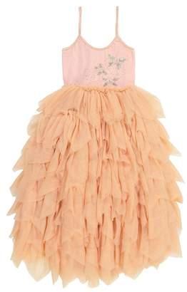 Masala Baby Jewel Butterfly Layered Ruffle Dress (Toddler, Little Girls, & Big Girls)
