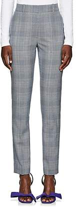 Calvin Klein Women's Plaid Wool Trousers - Gray