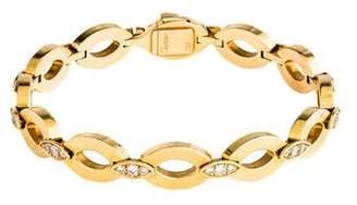 Cartier 18K DiaDea Diamond Link Bracelet