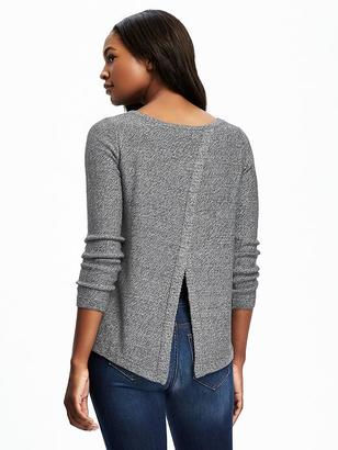 Relaxed Tulip-Back Pullover for Women $29.94 thestylecure.com