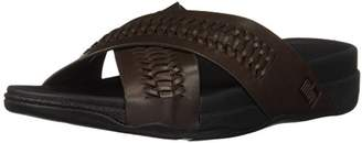 FitFlop Men's Surfer Slide in Woven Leather Flip-Flop
