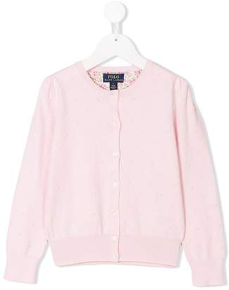 Ralph Lauren Kids embroidered cardigan