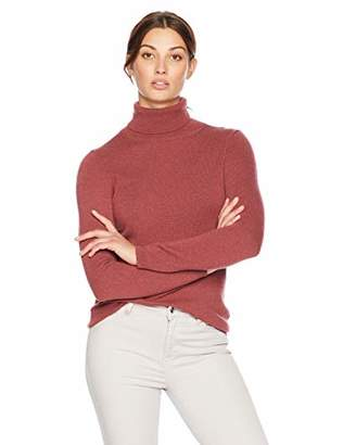 Lark & Ro Women's Turtleneck Pullover Cashmere Sweater